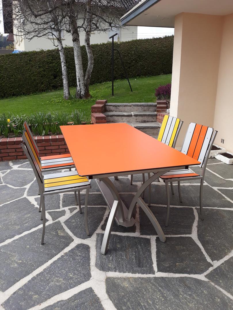 Table inox rectangulaire pieds cintrés o