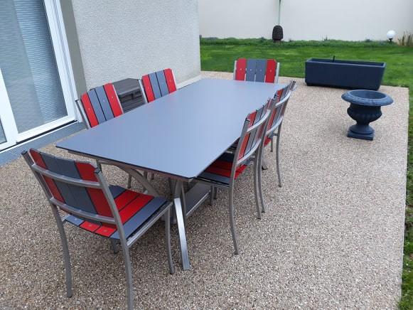 Table inox rectangulaire pieds cintrés