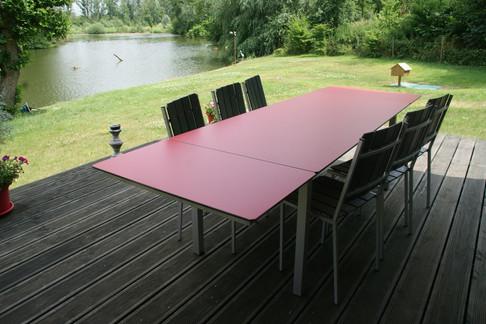 Table a rallonges pieds carrés.JPG