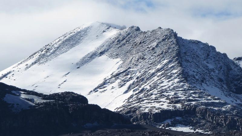 La Olleta crater Volcan nevado del Ruiz
