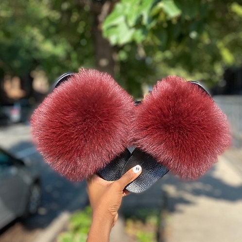 Glam Fur Slides