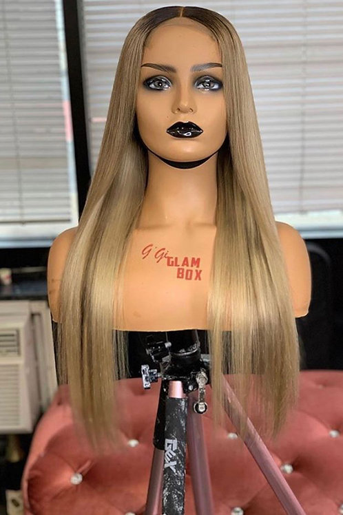 Ash Blonde Unit With Brown Highlights