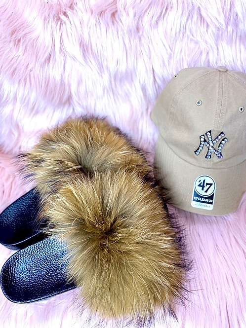GLAM SLIDES x CRYSTALIZE HAT COMBO
