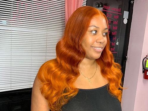 Orange Ombré Wig 12'-22'