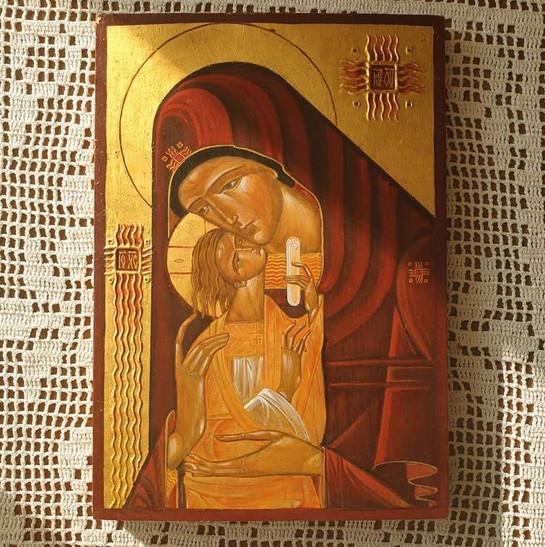 Ikona Eleusa wg wzoru Luby Yatskiv