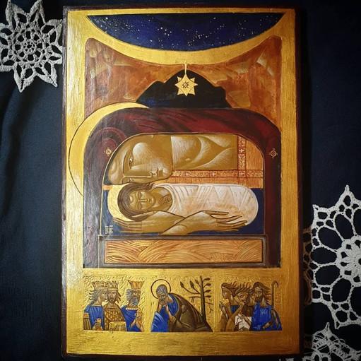 Ikona Bożego Narodzenia wg wzoru Luby Yatskiv
