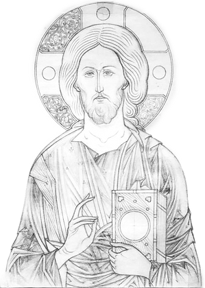 Kurs rysunku ikonopisarskiego- Chrystus