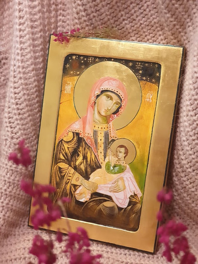 Matk Boska Karmiąca Pracownia Ikon Serca Jezusowego