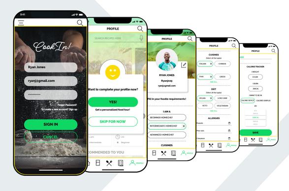 CookIn App UX/UI Design