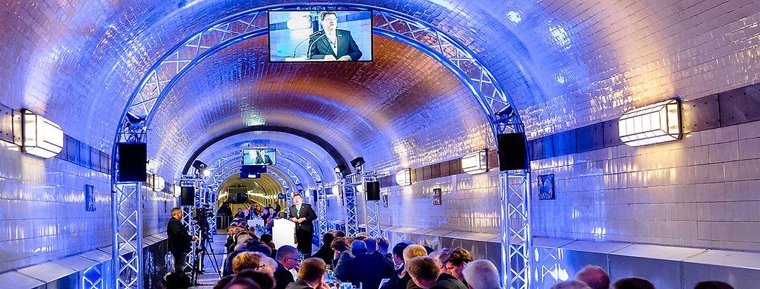Alter Elbtunnel 125 Jahre Bauverband Gala Hamburg