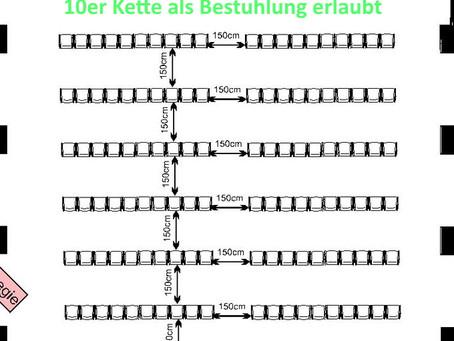 Bestuhlung 10er Kette in Hamburg erlaubt!