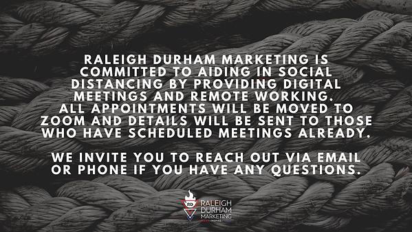 Raleigh Durham Marekting closing stateme