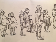 Day 4 2018: train station queue