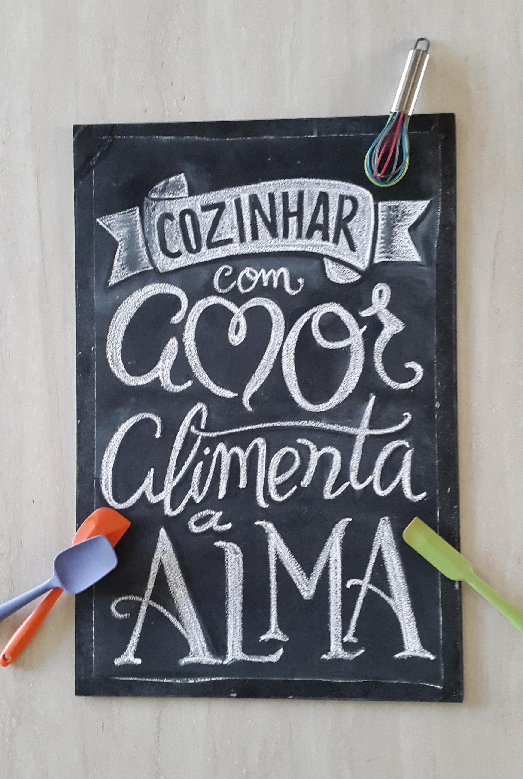 Chalkboard Cozinhar - Em giz