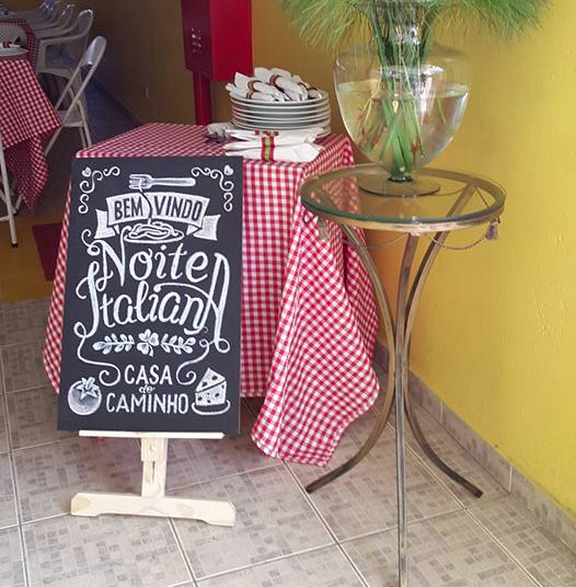 Chalkboard Noite Italiana - Em giz