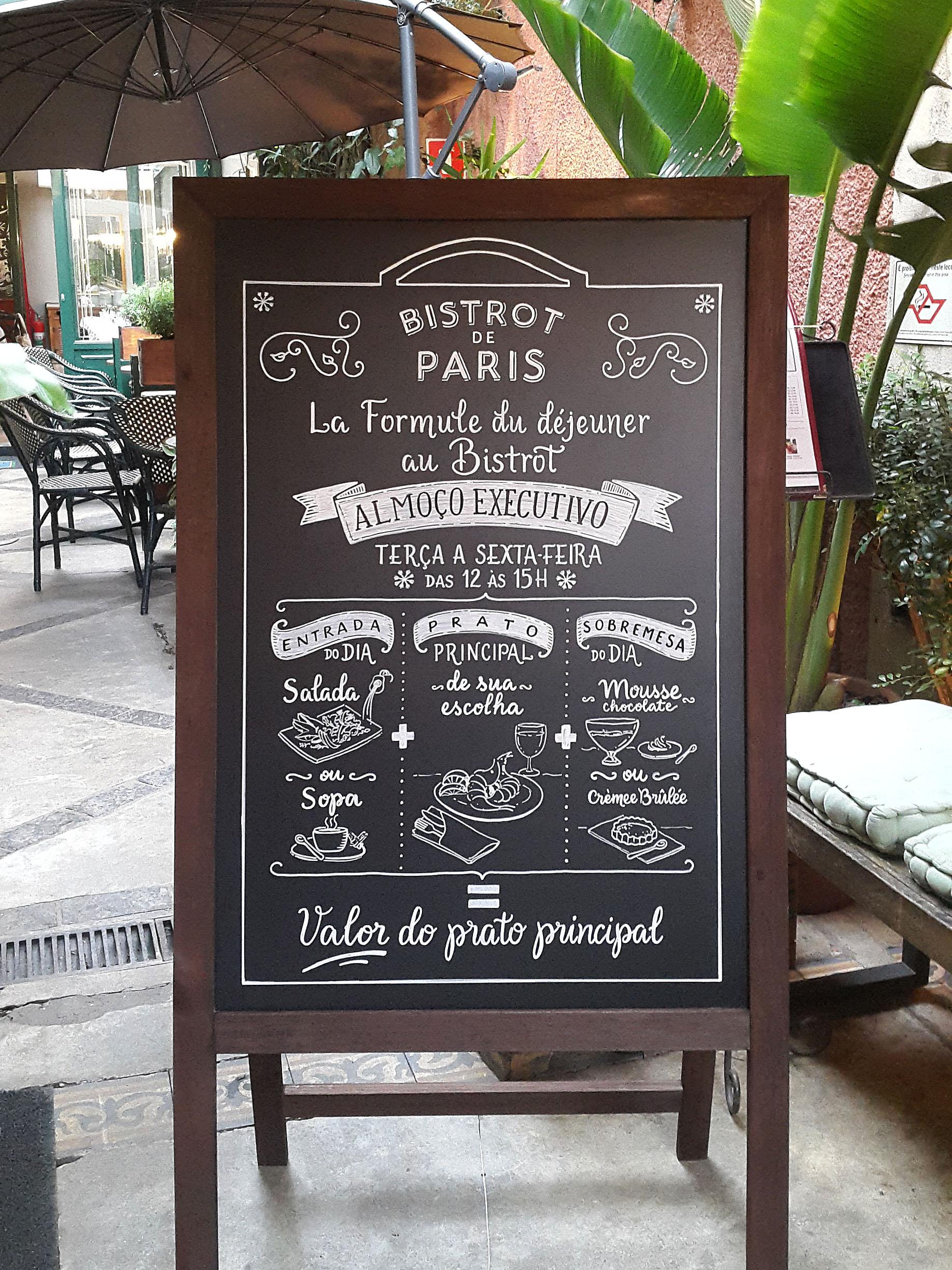 Cavalete Bistrot de Paris
