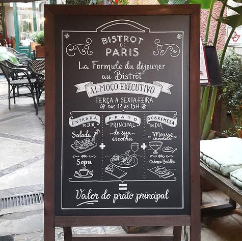 Cavalete Bistrot de Paris - SP - Dez 2017