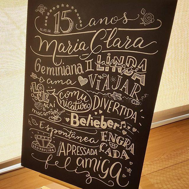 Lousa 15 anos Maria Clara