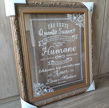 Casamento - Arte sobre acrílico
