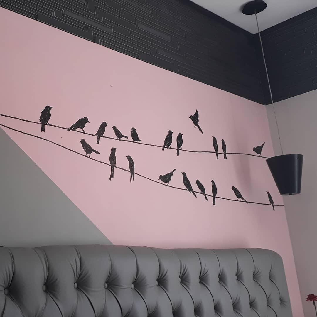 Birds in line - Parede de Quarto - Dez 2020