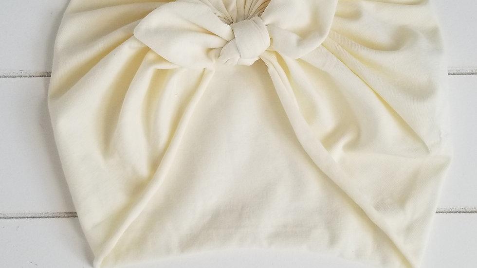 Turban BIO crème