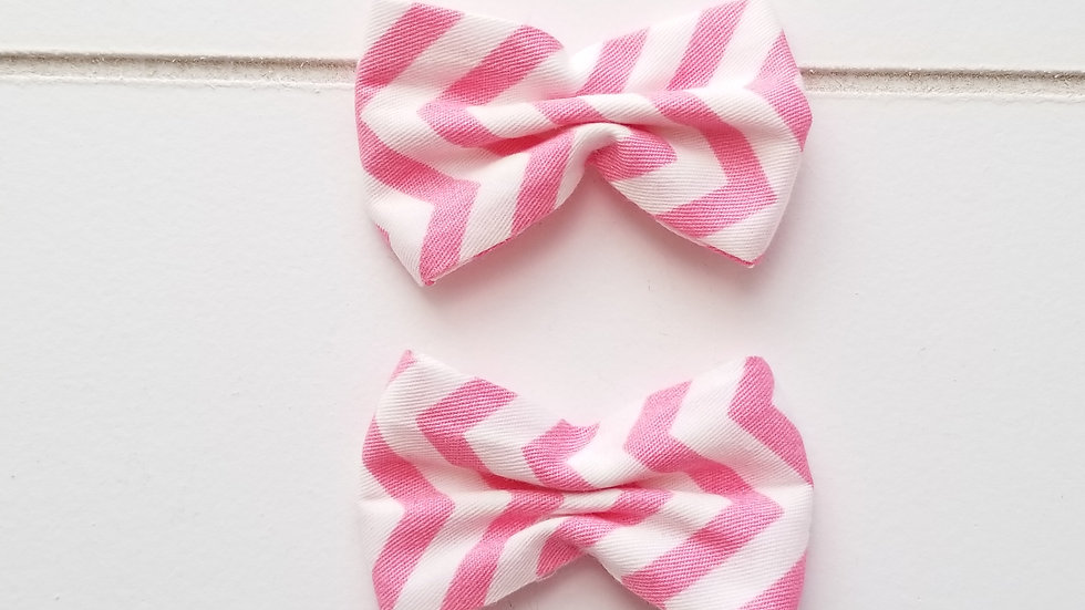 PAPILLON CHEVRON ROSE LOT DE2