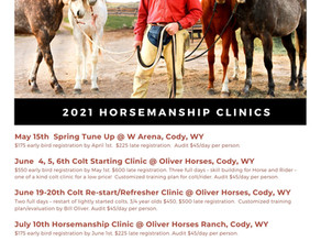 2021 Clinic Registration Open!
