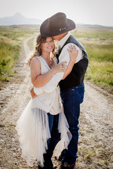 Shana+Bruce-Western Wedding in Wyoming.  Heart Mountain area