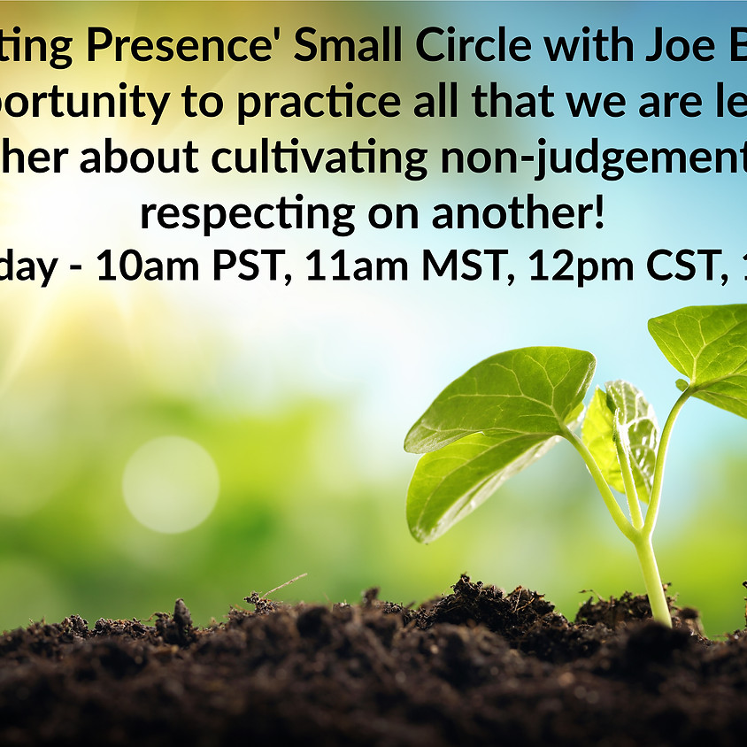 'Cultivating Presence' Small Circle