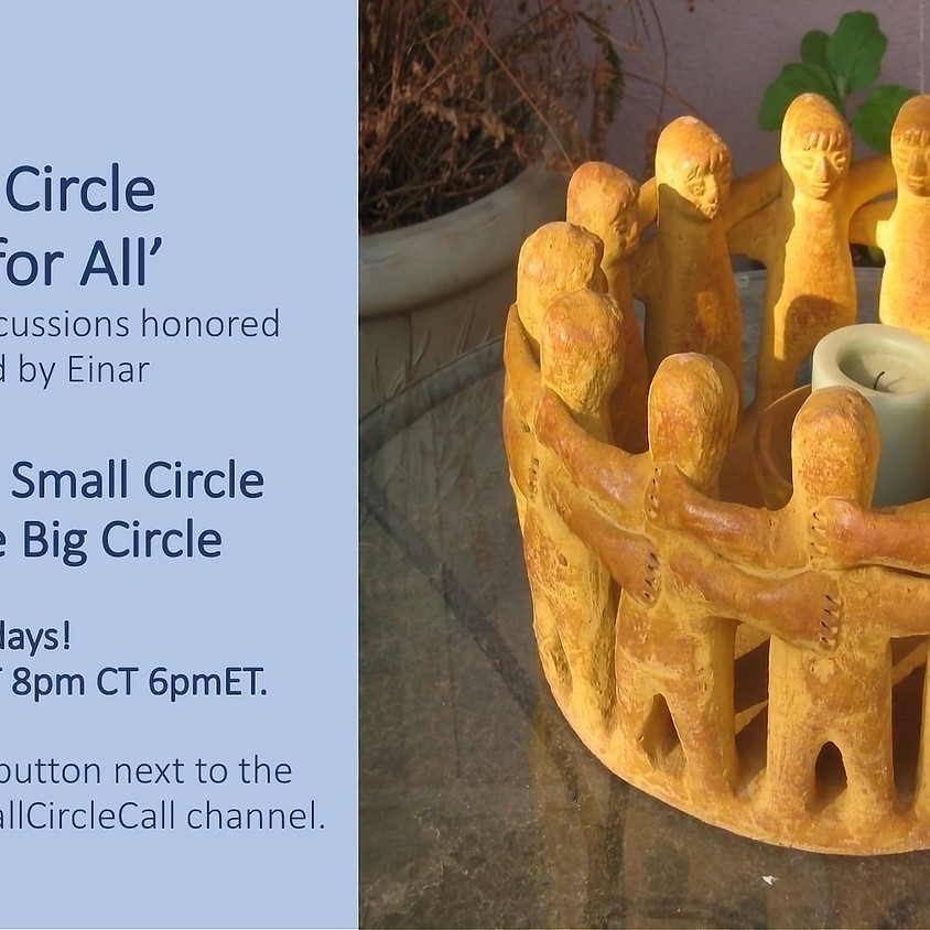 Sunday 'Free for All' Small Circle