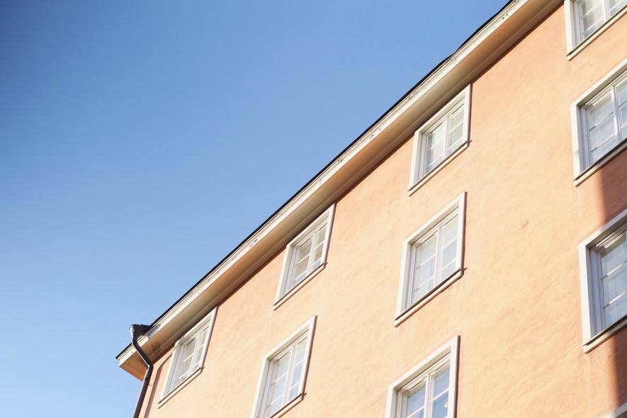 Apartment complex in Stockholm, Sweden.