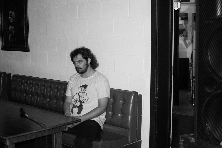 Alex Beckman at Blockhouse Bar in Bloomington, IN.