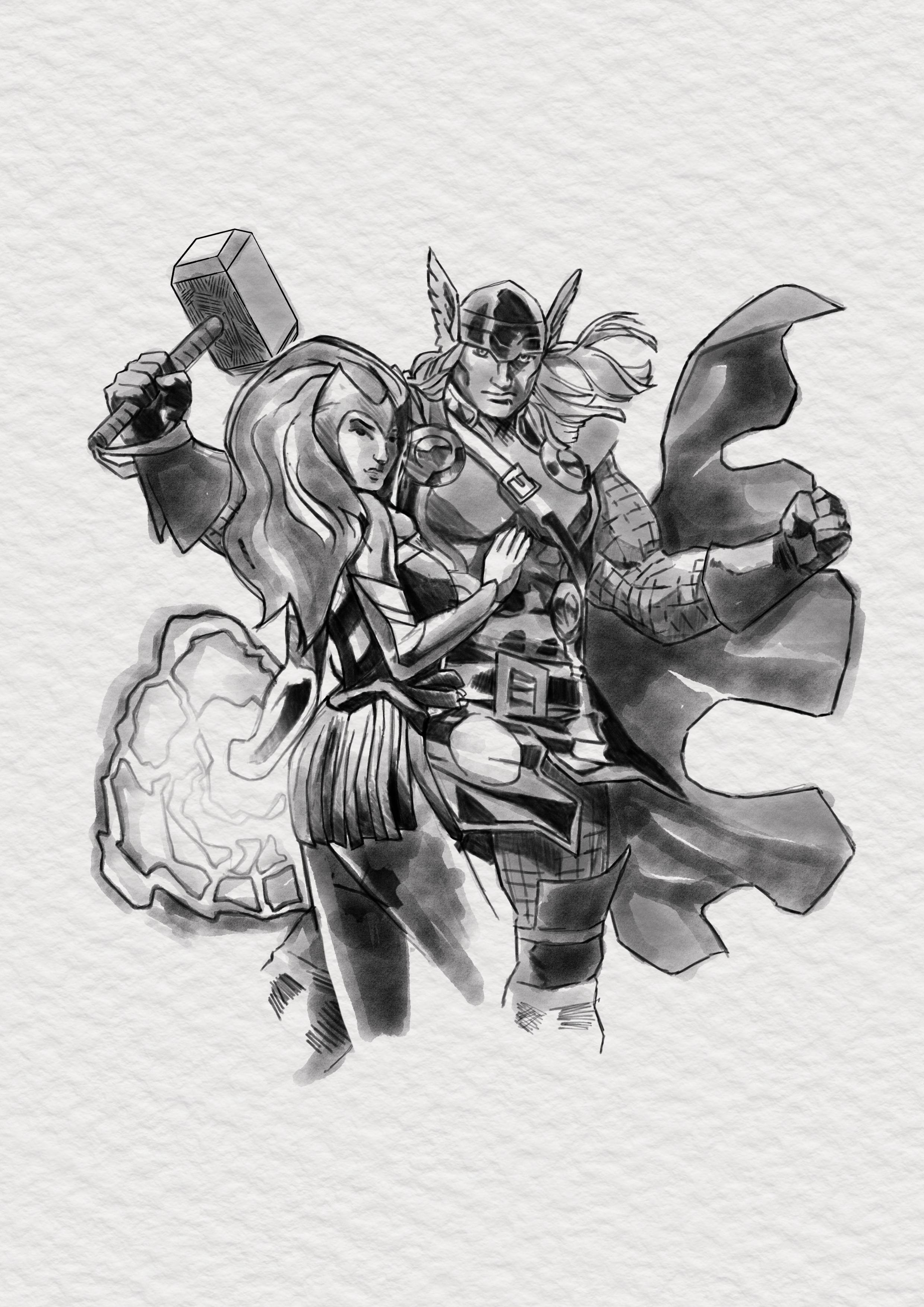 thor and enchantress
