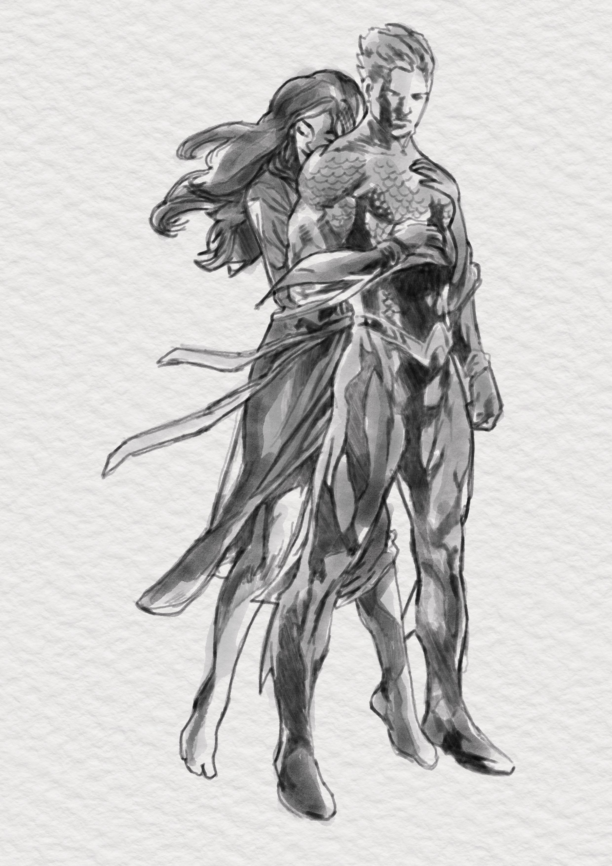 aqua man and mera