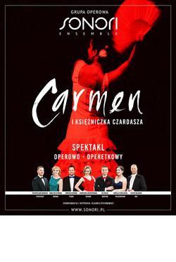 plakat Carmen i Ksiezniczka Czardasza