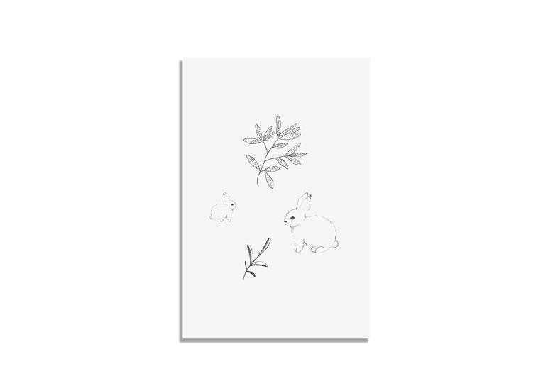 Postcard 15*10 CM leaves