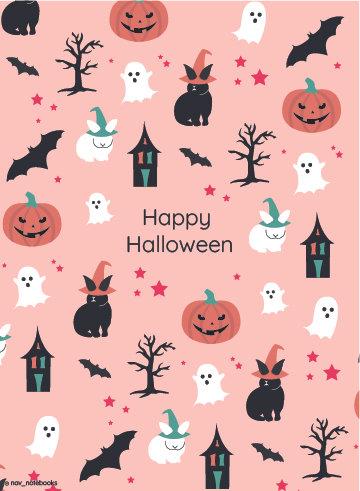 Halloween Greeting card_Pink
