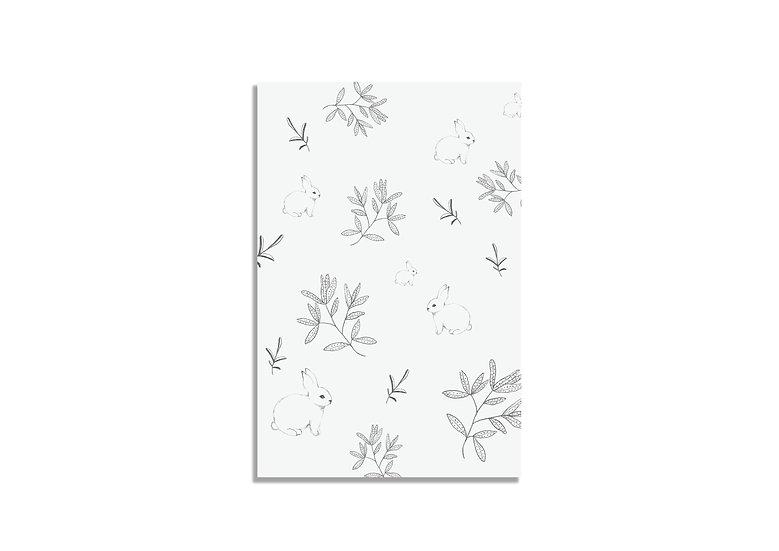 Postcard 15*10 CM white pattern