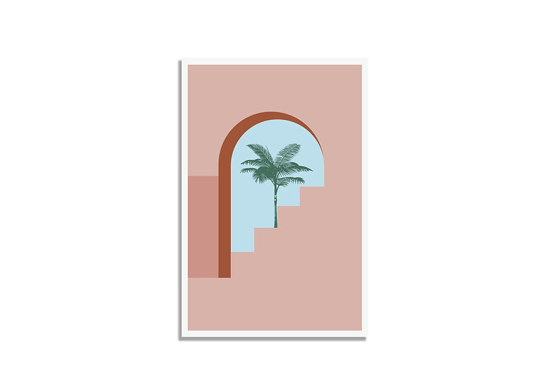 Postcard palm tree