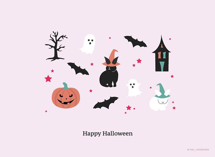 Halloween Greeting card_Purple