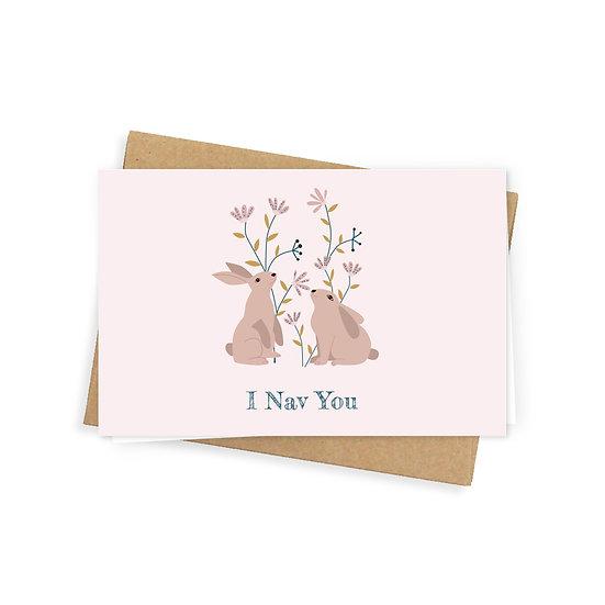 Nav you greeting card, pink