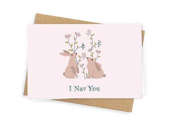 I Nav you, pink