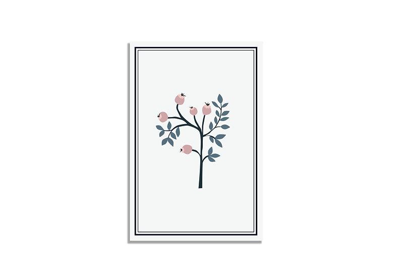 Postcard 15*10 CM small tree