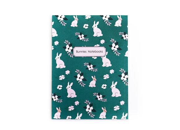 Bunnies turquoise  pattern