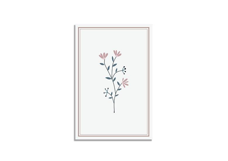 Postcard 15*10 CM flower