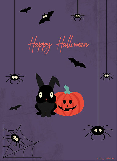 Halloween Greeting card_Spiders