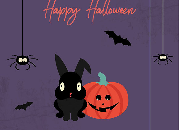 Halloween Greeting card_Spiders