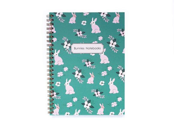 Notebook, Gold Spiral Bingind