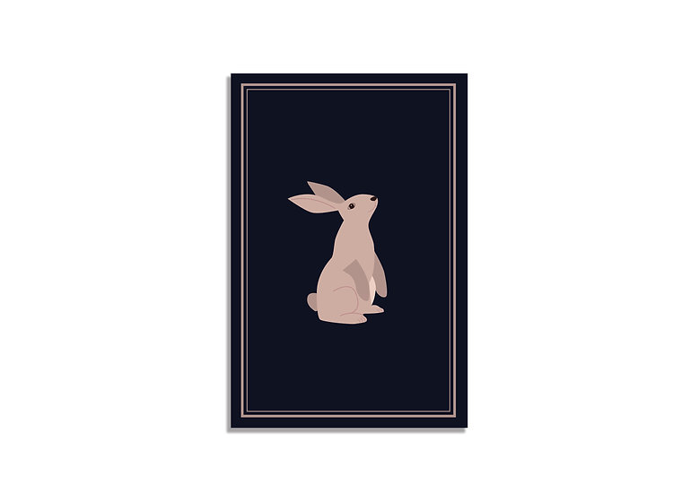 Postcard 15*10 CM blue bunny