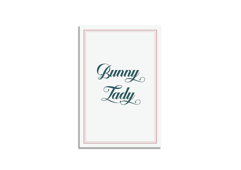 Postcard 15*10 CM bunny lady typography